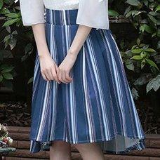 LIZ LISA Multi Stripe Fishtail Skirt