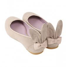 Honey Salon Bunny Ballet Flats (Gray)