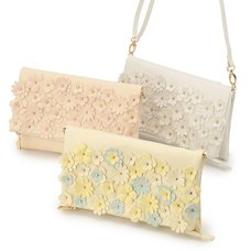 LIZ LISA Flower Motif Clutch Bag