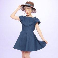 Swankiss Frilly Denim Dress