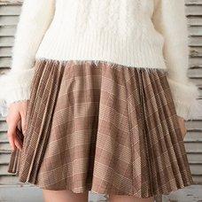 LIZ LISA Pleated Checkered Sukapan Skirt
