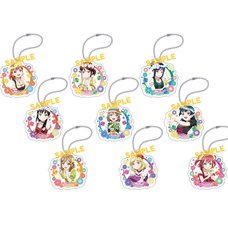 Love Live! Sunshine!! Floral Acrylic Keychain Collection