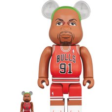 BE@RBRICK Chicago Bulls Dennis Rodman 100% & 400% Set