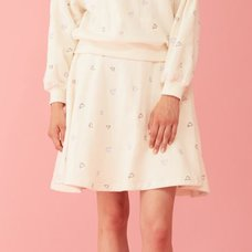 Honey Salon Heart Print Skirt