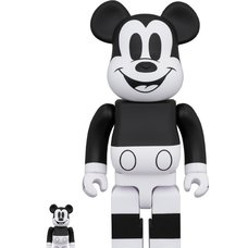 BE@RBRICK Mickey Mouse: Black & White 2020 Ver. 100% & 400% Set