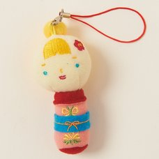 Hannari Kokeshi S Momo Phone Strap