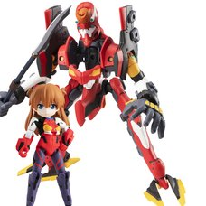 Desktop Army Rebuild of Evangelion Asuka Shikinami Langley & Unit-02