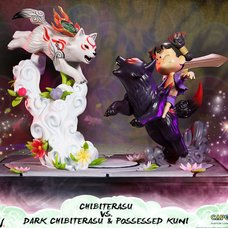 Okamiden Chibiterasu vs. Dark Chibiterasu & Possessed Kuni: Standard Edition Statue