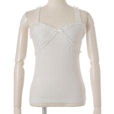 LIZ LISA Chiffon Ribbon Rose Inner Camisole
