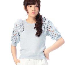 LIZ LISA Frill & Lace Knit Shirts