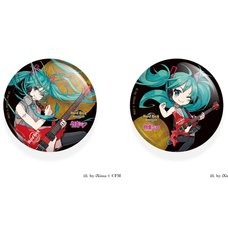 Hatsune Miku x Hard Rock Family Live Collaboration Pin Badge Set