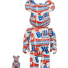 BE@RBRICK Andy Warhol Brillo 100% & 400% Set