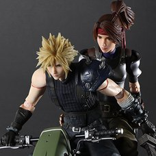 Play Arts Kai Final Fantasy VII Remake Jessie & Cloud & Motorcycle Set