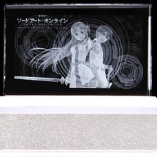 Sword Art Online the Movie Ordinal Scale Kirito and Asuna Premium Crystal /w Serial Number