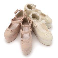 LIZ LISA Velour Lace-Up Platform Shoes
