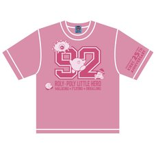 The King of Games Kirby 25th Anniversary Numbering Pink Kids' T-Shirt w/ Plush Mascot