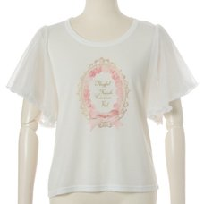 LIZ LISA Label Print T-Shirt
