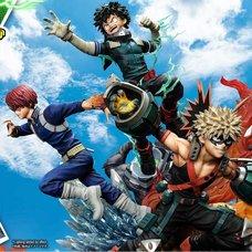 Ultimate Premium Masterline My Hero Academia Izuku Midoriya & Katsuki Bakugo & Shoto Todoroki: Standard Edition 1/4 Scale Statue