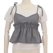 LIZ LISA Checkered Camisole w/ T-Shirt