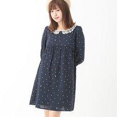 earth music&ecology Flower Dot Print Dress