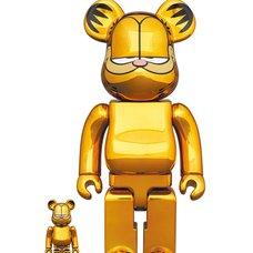 BE@RBRICK Garfield: Gold Chrome Ver.  100% & 400%