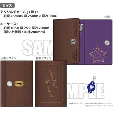 Love Live! Superstar!! Yuigaoka Girls' High School Store Official Memorial Item Vol. 8: Thoughts Connected by Music Key Case