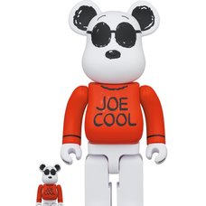 BE@RBRICK Peanuts Joe Cool 100% & 400% Set