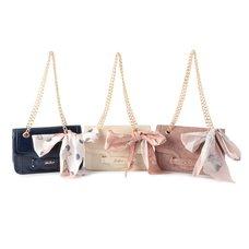 LIZ LISA Glossy Chain Strap Bag w/ Scarf