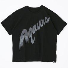 Love Live! Sunshine!! Aqours Logo Black T-Shirt