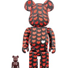 BE@RBRICK Black Heart 100% & 400% Set