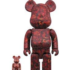 BE@RBRICK M Mika Ninagawa Leather Rose 100% & 400% Set
