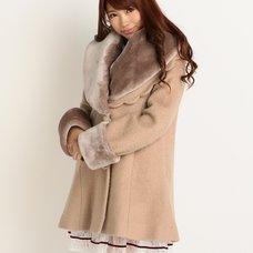 LIZ LISA x Yui Kanno Faux Fur Collar & Cuffs Coat