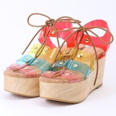 Honey Salon Transparent Laced Sandals