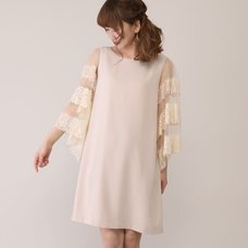 Honey Salon Tulle Lace Sleeve Dress