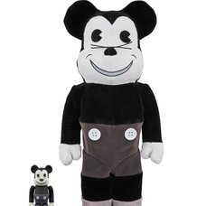 BE@RBRICK Mickey Mouse Vintage Ver. Black & White 100% & 400%