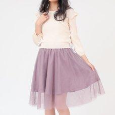 LIZ LISA Knit Docking Tulle Dress