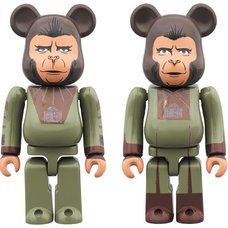 BE@RBRICK Planet of the Apes Cornelius & Zira 100% Set