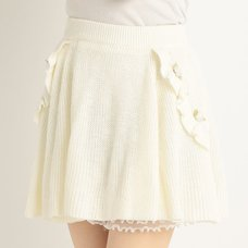 LIZ LISA Flower Knit Flared Skirt