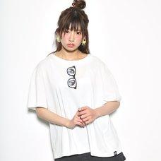 Love Live! Sunshine!! Mari Glasses Eye Mask White T-Shirt