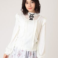 LIZ LISA Frilly Ribbon Top