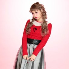 Swankiss Rose Frill Knit Top