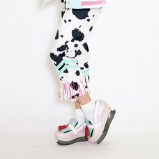 galaxxxy Neo 70's Cow Print Pants