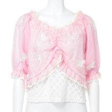 Swankiss Butterfly Chiffon Shirt