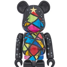 2016 Xmas BE@RBRICK 100% Stained Glass Tree