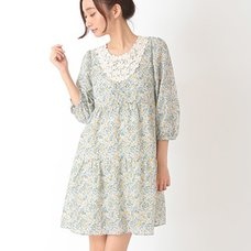 earth music&ecology Floral & Animal Print Lace Dress