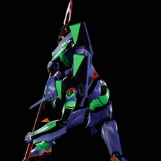 Dynaction Evangelion: 3.0+1.0 Thrice Upon a Time Multipurpose Humanoid Decisive Weapon Evangelion Test Type-01 + Spear of Cassius: Renewal Color Edition