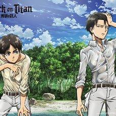 Attack on Titan - Eren & Levi on Shore Wall Scroll