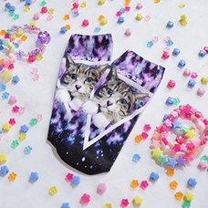 ACDC RAG Galaxy Cat Socks