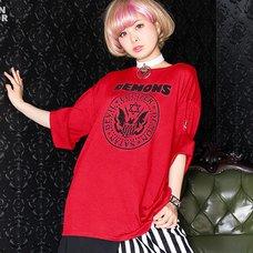LISTEN FLAVOR Demons Roll Sleeve T-Shirt
