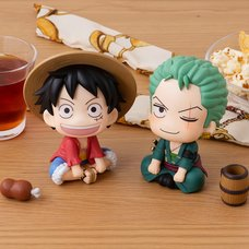 Look Up Series One Piece Luffy & Zoro Set w/ Bonus
